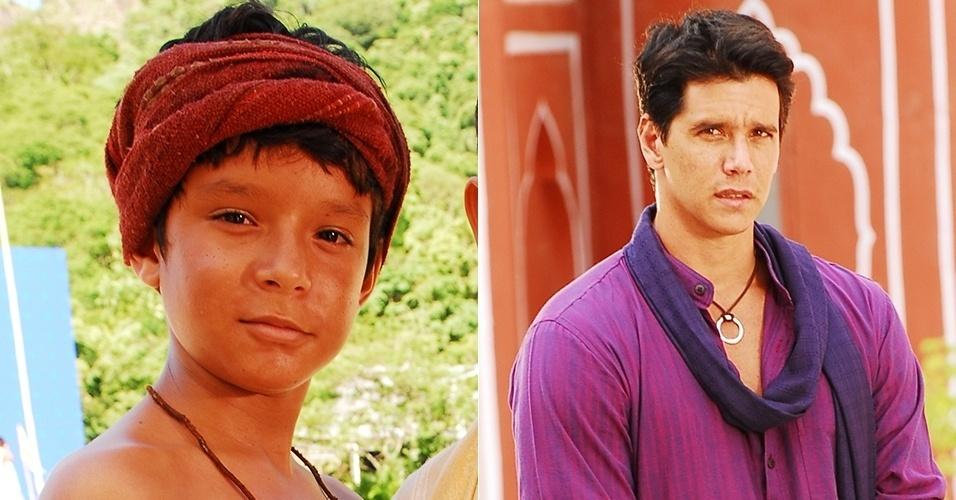 Dyjhan Henrique e Marcio Garcia deram vida a Bahuan, na primeira e segunda fase respectivamente de