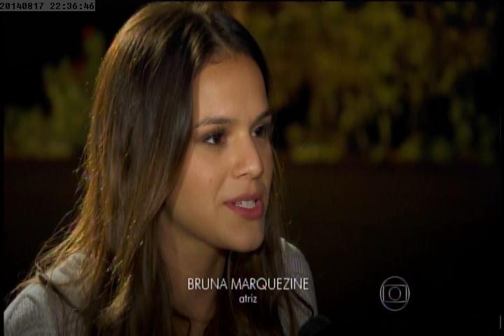 """17.ago.2014 - Bruna Marquezine diz que sua participação em """"Breaking Through"""" é pequena, mas """"é uma realização de um sonho"""""""
