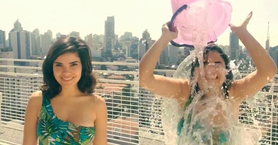 Vanessa Giácomo mostrou em seu Instagram o banho de água fria que levou por indicação da amiga Ísis Valverde. Ela desafiou Cléo Pires, Fabíula Nascimento e Thiago Leifert para a brincadeira que virou febre entre os famosos