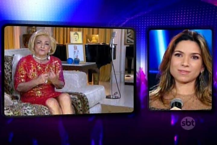 Patrícia Abravanel se emociona com depoimento inédito de Hebe Camargo