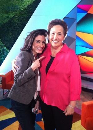 Claudia Jimenez conta detalhes da sua recuperação para Renata Vasconcelos