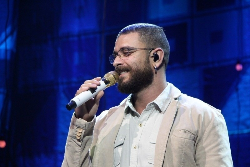 21.ago.2014 - Diogo Nogueira participa do lançamento do