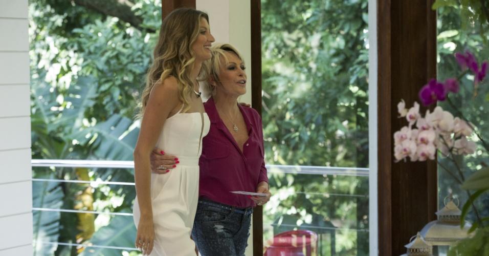 25.ago.2014 - Gisele Bündchen fala de carreira e vida pessoal durante bate-papo com Ana Maria Braga