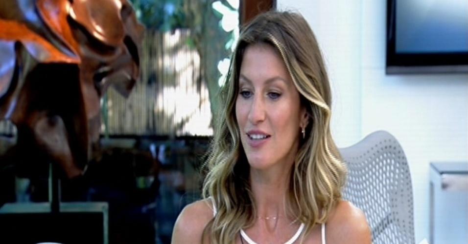 25.ago.2014 - Gisele Bündchen fala sobre os filhos em entrevista ao
