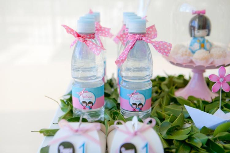 decoracao festa kokeshi: festa inspirada na boneca japonesa Kokeshi. A decoração foi feita