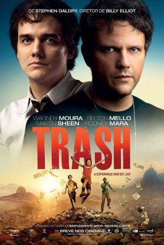 "Cartaz de ""Trash: A Esperança Vem do Lixo"" traz Wagner Moura e Selton Mello"
