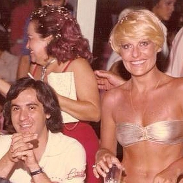 Os apresentadores Amaury Jr. e Ana Maria Braga na década de 70