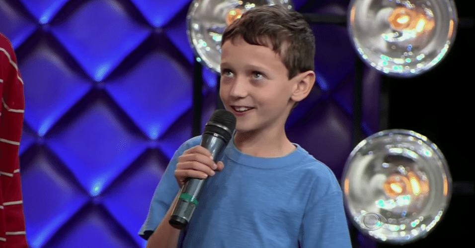 Leandro Beninca, de nove anos, narrador do meme