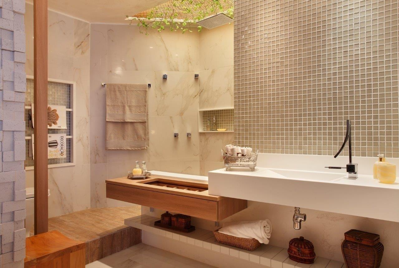Anna Plachta Camila Dekache e Paula Groishman assinam o Banheiro da  #B04D0F 1280x860 Banheiro Branco E Marron