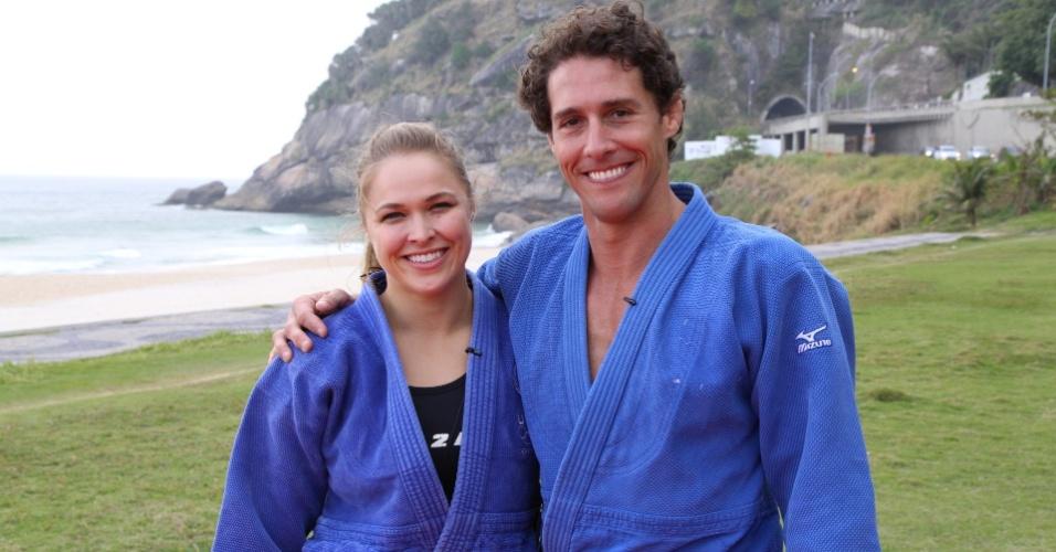 Ronda Rousey, campeã do UFC, gravou entrevistas com Flávio Canto para o