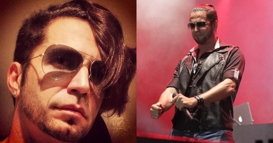 23.set.2014 - O cantor Latino postou foto com novo corte de cabelo em seu Instagram. Ostentando uma espécie de topete-franjão, o artista recebeu elogios de seus seguidores