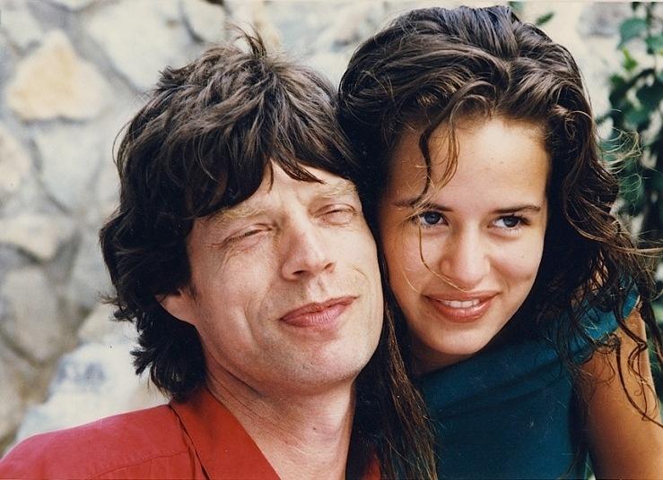 O vocalista da banda Rolling Stones, Mick Jagger, e a filha Jade