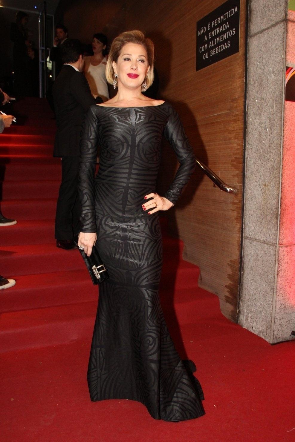 24.set.2014 - Claudia Raia na abertura da 16ª edição do Festival do Rio, no Teatro Oi Casa Grande, no Leblon