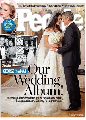 George Clooney se casou com a advogada britânica Amal Alamuddim no último sábado (27)