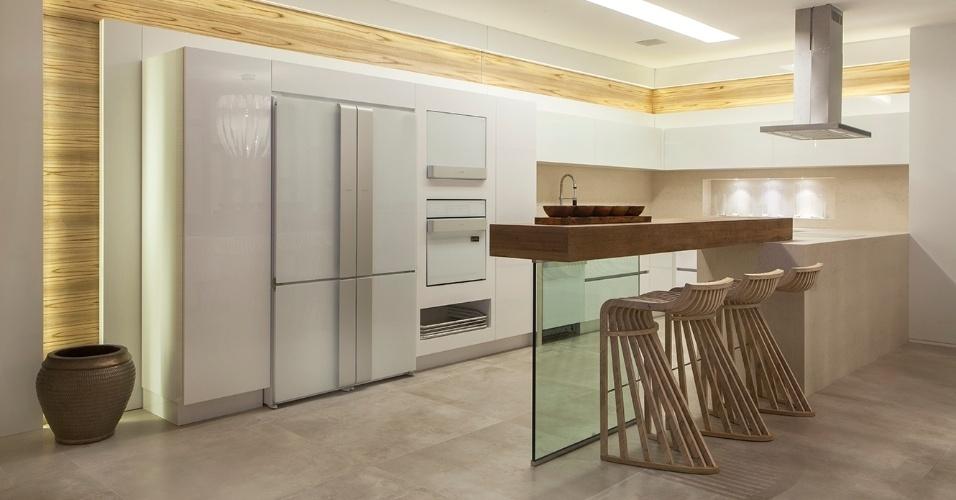 decoracao cozinha flat:cozinha do Flat Urbano Contemporâneo, desenhado pela arquiteta