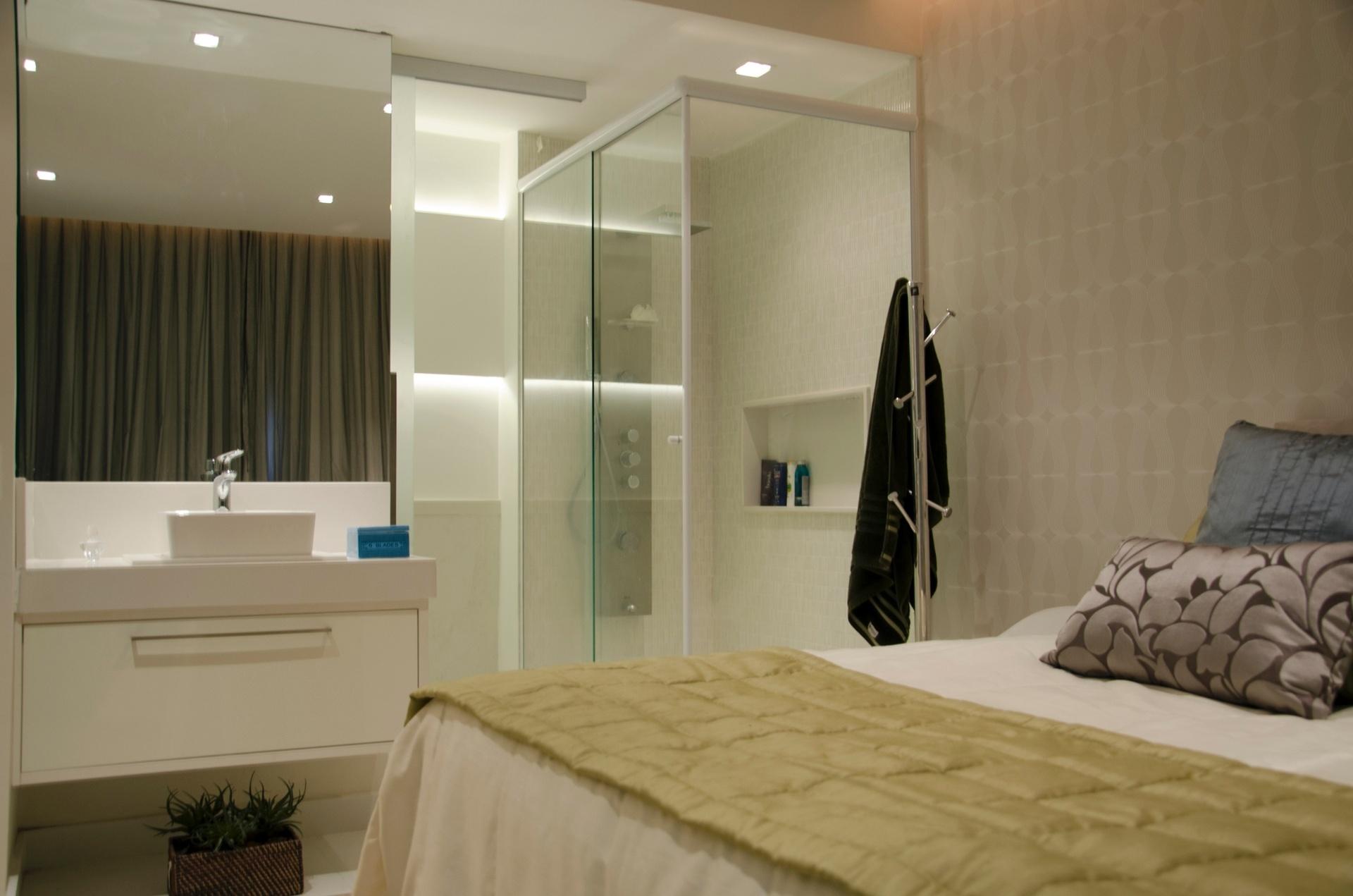 Ravaglia & Philot foi a integração do banheiro ao quarto  #214C5D 1920 1271