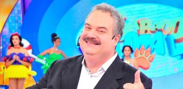 "Apresentador Gilberto Barros grava programa ""Sábado Total"""