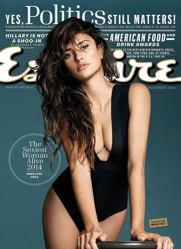 13.out.2014 - Penelope Cruz é eleita a mulher mais sexy do mundo pela
