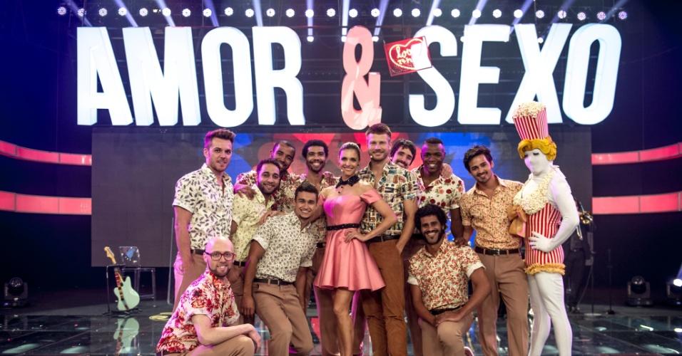 """Fernanda Lima e Rodrigo Hilbert precisaram ensaiar várias vezes com os bailarinos de """"Amor & Sexo"""" e receberam elogios pela dedicação e desenvoltura"""