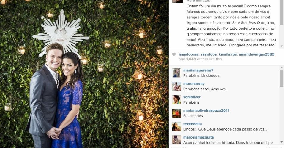 15.out.2014 - Thais Fersoza se casa com Michel Teló