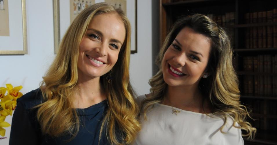 """Angélica leva Fernanda Souza para escolher opções de buquês, buffet e convite no programa """"Estrelas"""""""