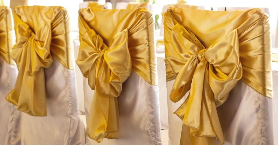 Dourado no casamento - decoração