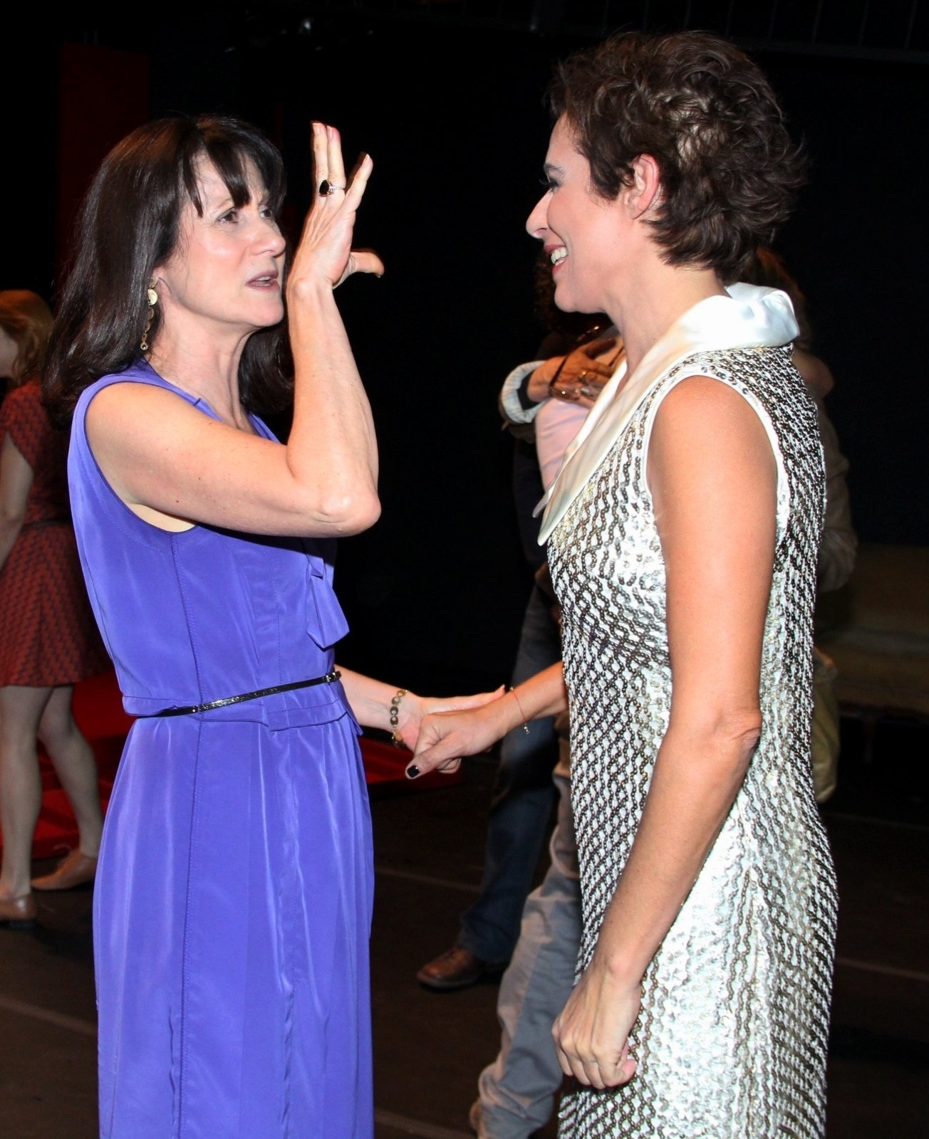17.out.2014 - Zezé Polessa conversa com Andrea Beltrão na estreia do espetáculo