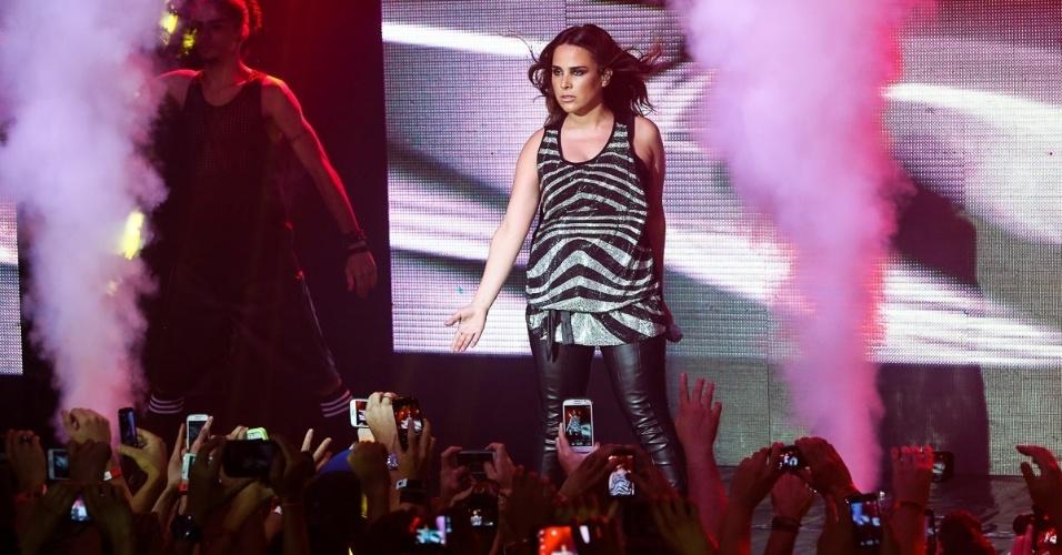 19.out.2014 - Em São Paulo, Wanessa faz seu primeiro show após o nascimento de seu segundo filho, João Francisco