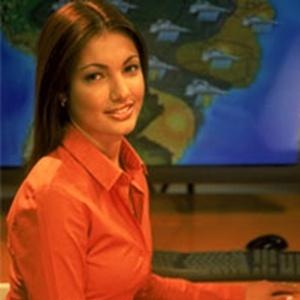 A jornalista Patrícia Poeta no início da carreira como jornalista