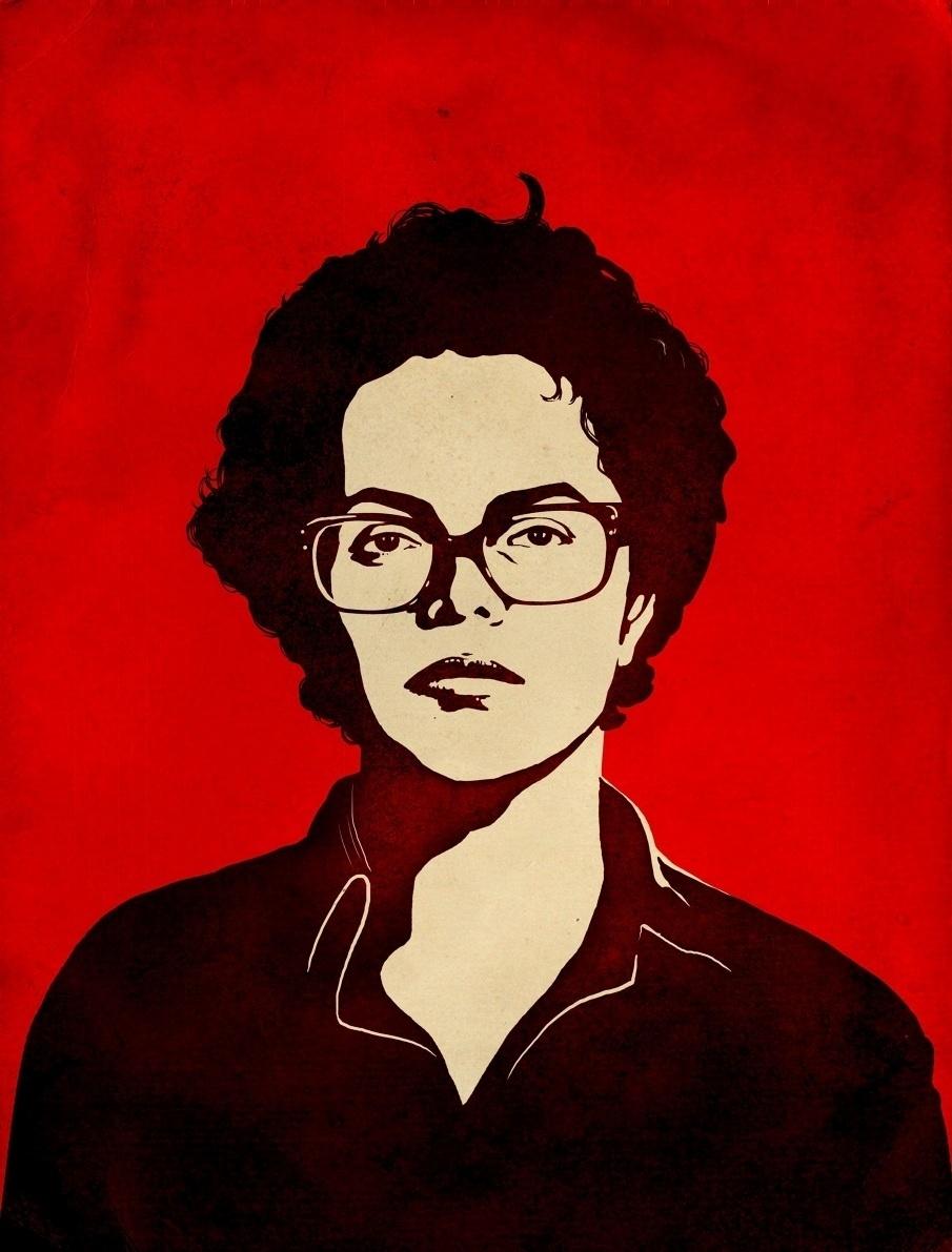 Ilustração feita por Sattu Rodrigues a partir da fotografia 3x4 de Dilma Rousseff feita pelo Dops