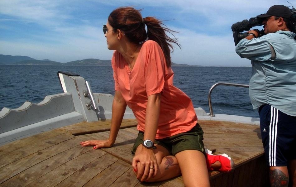2013 - Poliana Abritta assumiu neste domingo (2) a apresentação do programa