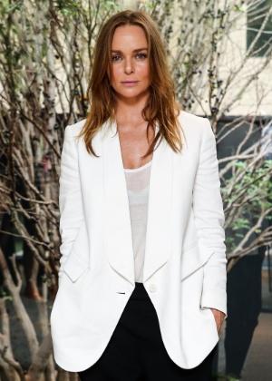 5.nov.2014 - Stella McCartney chega a evento realizado em SP, para divulgar sua linha de roupas em parceria com a C&A
