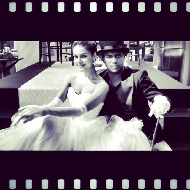 6.nov.2014 - Paloma Bernardi e Patrick Carvalho no ensaio da valsa para o quadro