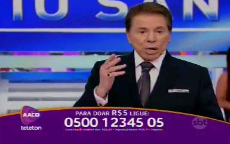 7.nov.2014 - Silvio Santos