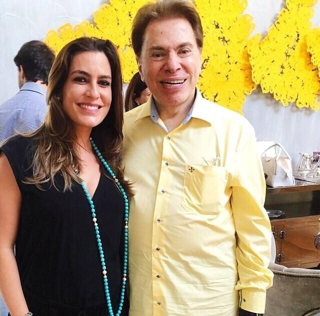Ticiana Villas Boas e Silvio Santos
