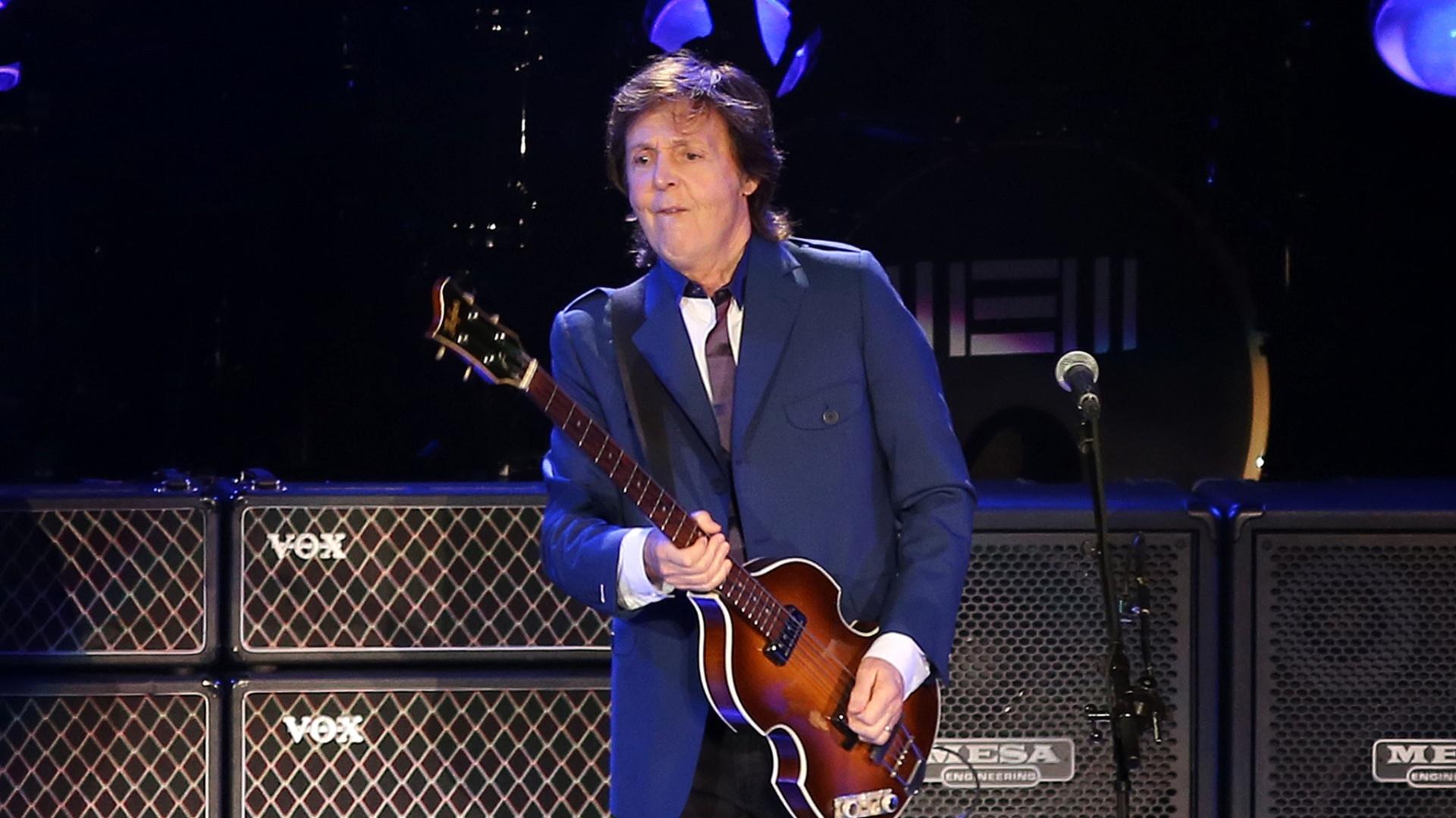 12.nov.2014 - Paul McCartney abre segundo show da nova turnê brasileira, no Rio de Janeiro, com