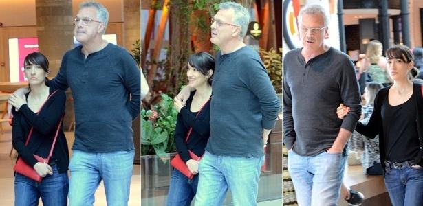 Pedro Bial é flagrado em companhia da namorada Maria Prata