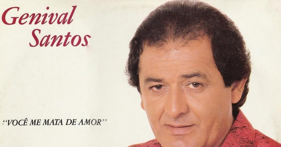 """Capa do disco """"Você me Mata de Amor"""", do cantor paraibano Genival Santos"""