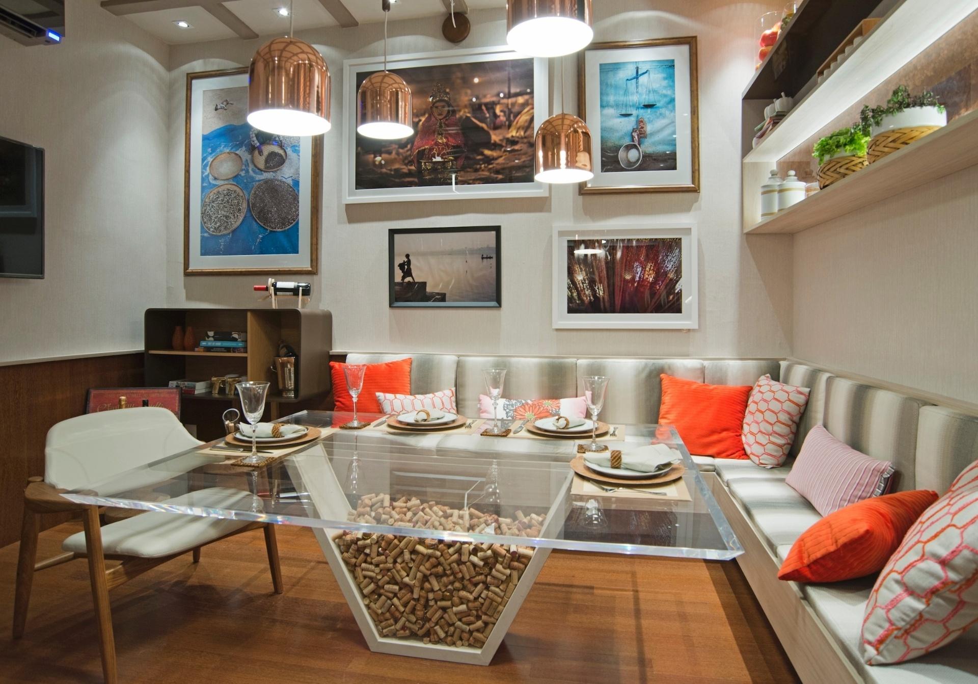 sala de almoco e integrada a cozinha foto 9 e ambos os ambientes sao  #B42F17 1920 1342