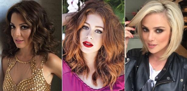 Cores de cabelo do verão: o castanho de Ana Paula Padrão, o ruivo de Marina Ruy Barbosa e o loiro de Nathália Rodrigues