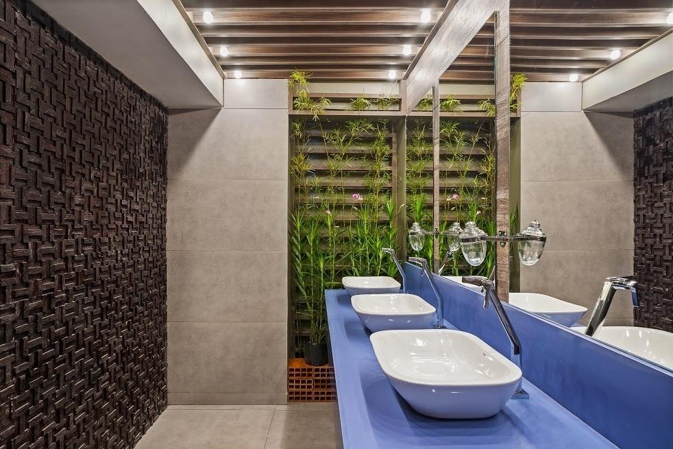 decoracao de banheiro na cor azul – Doitricom -> Banheiro Decorado Azul