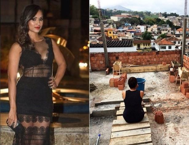 Atriz Thaíssa Carvalho mostra reforma de sua casa em bairro de subúrbio carioca