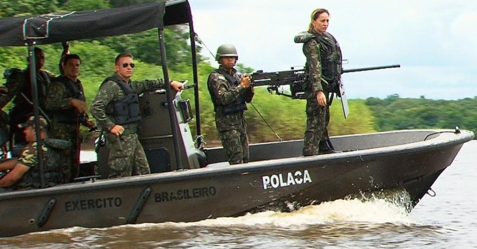 Sabrina Sato mostra tudo o que aprendeu no 1º Batalhão de Infantaria de Selva, em Manaus em sue programa deste sábado (29), que vai ao ar às 21h30