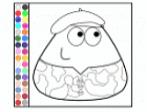 Colorir desenho do Pou