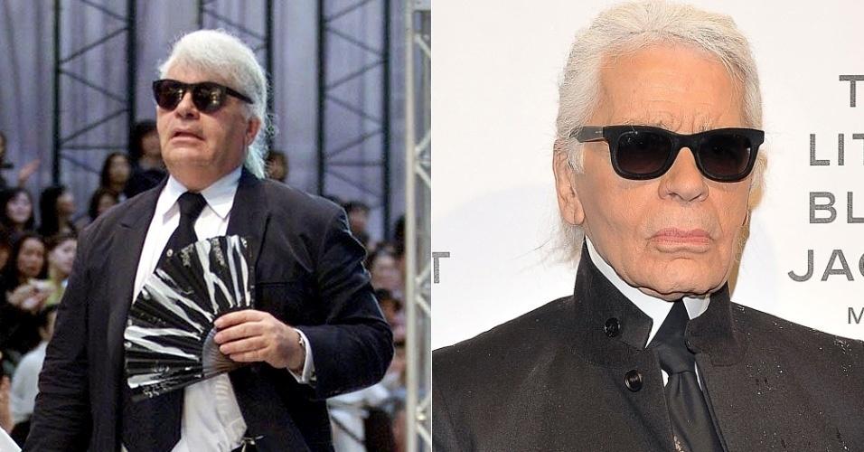 Karl Lagerfeld - antes e depois