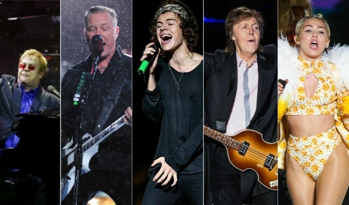 Confira alguns dos principais artistas internacionais que vieram se apresentar no Brasil em 2014