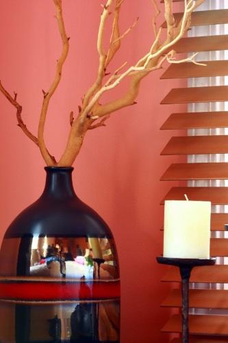 decoracao de sala longa: pouco extensa, em ambientes como halls de entrada e salas de jantar