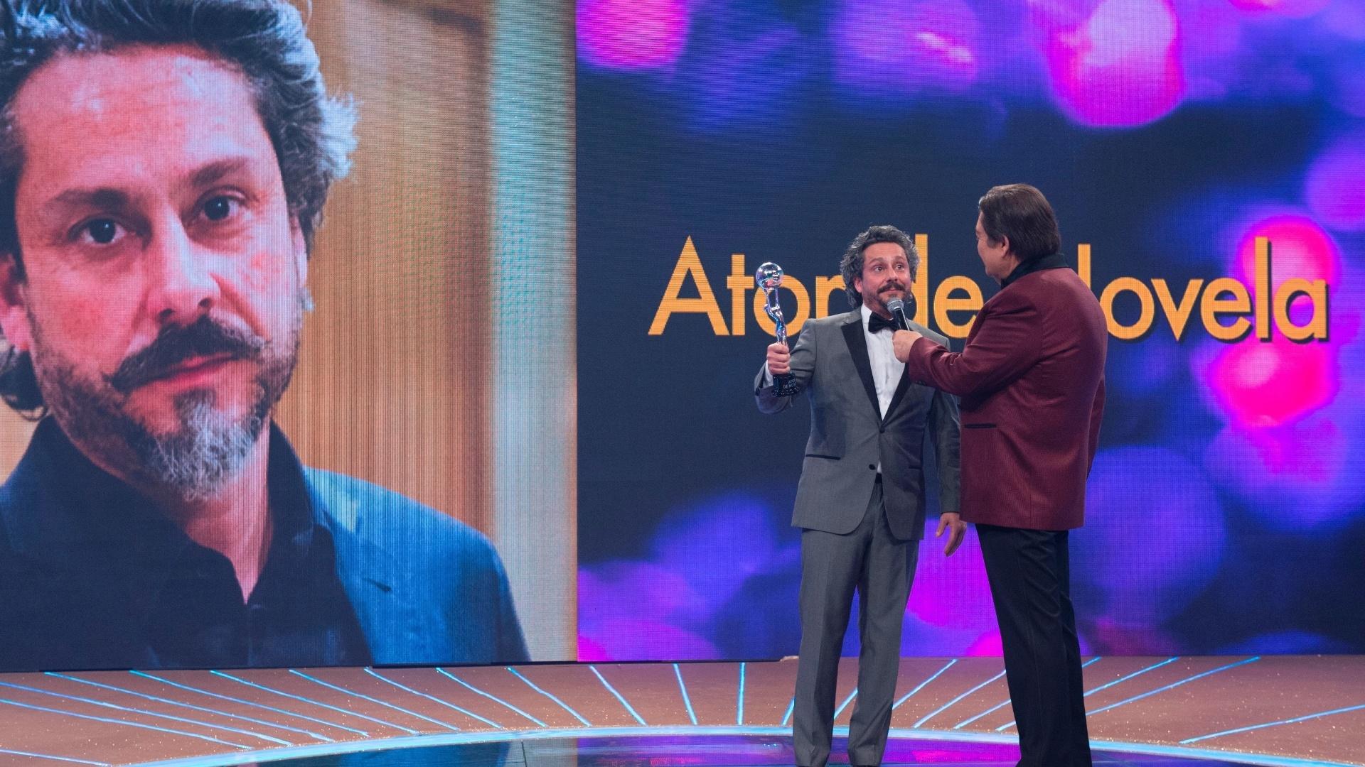 20.dez.2014 - Alexandre Nero é escolhido pelo público o melhor ator de novela de 2014 no Melhores do Ano do