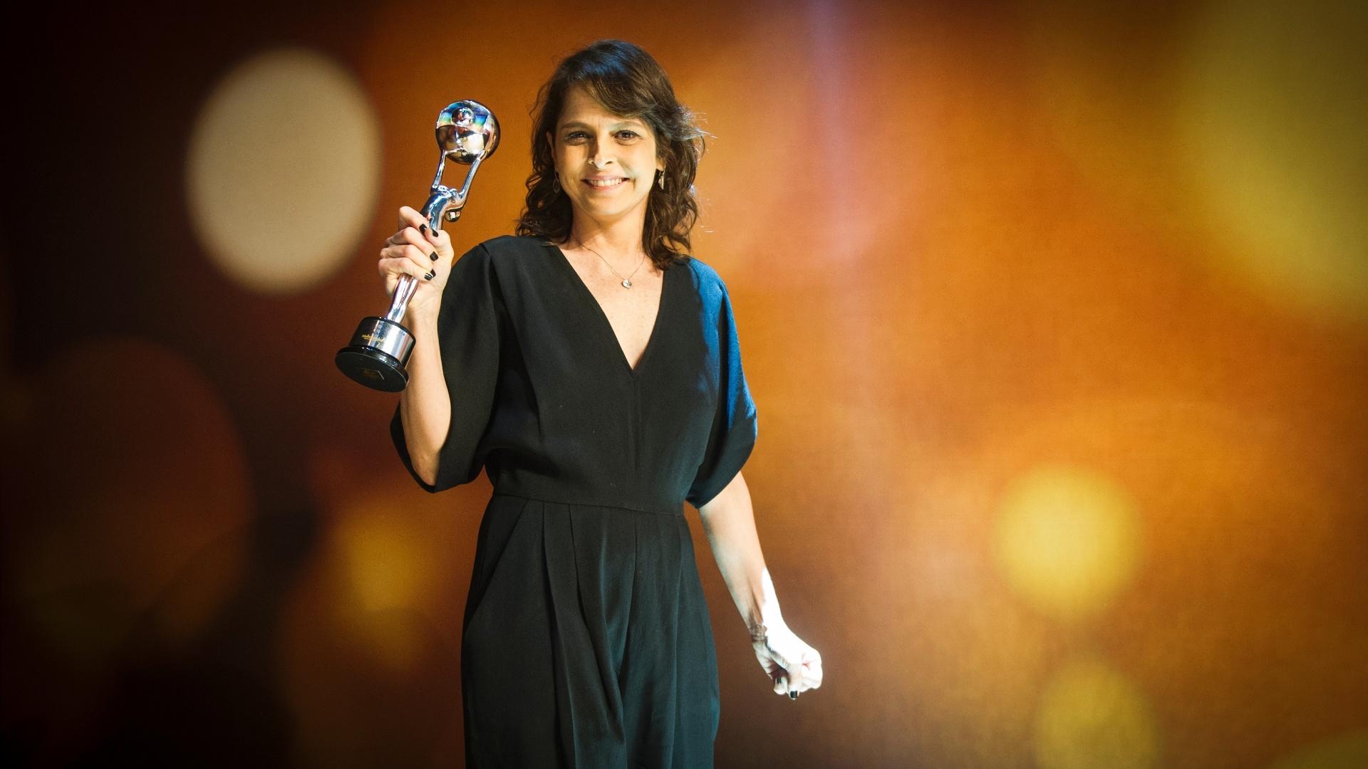 20.dez.2014 - Drica Moraes foi eleita a melhor atriz coadjuvante, pelo trabalho como Cora de