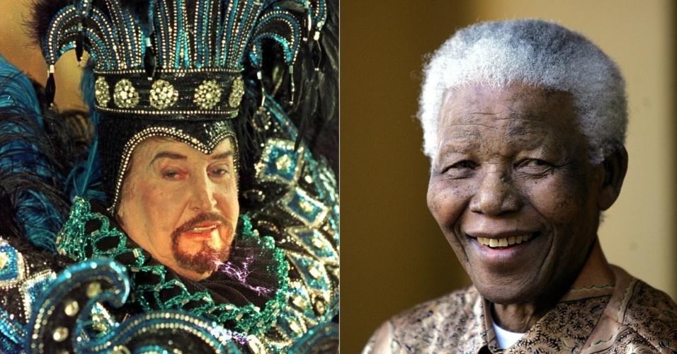 Montagem Clóvis Bornay e Nelson Mandela serão homenageados no Carnaval 2015